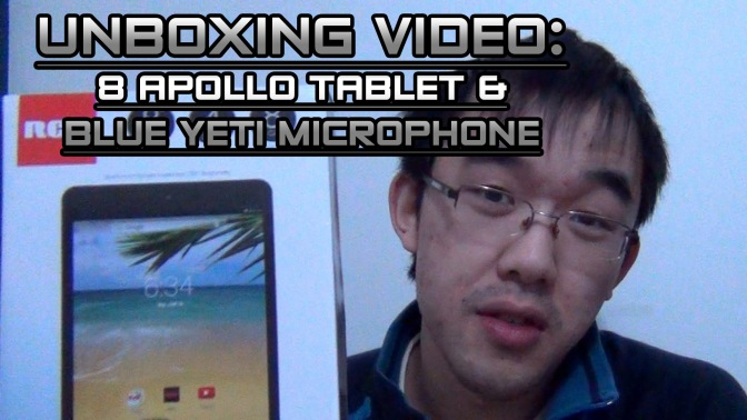 8 Apollo Tablet & Blue Yeti Mic Unboxing